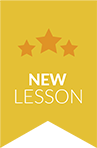 New lesson badge